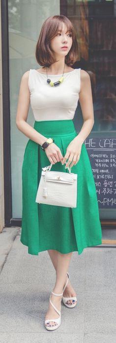 Luxe Asian Women Design Korean Model Fashion Style Sandy Ivory Top