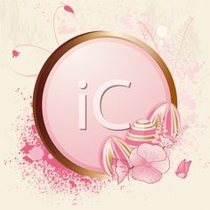 iCLIPART - Royalty Free Clip Art Image of a Floral Easter Egg Frame