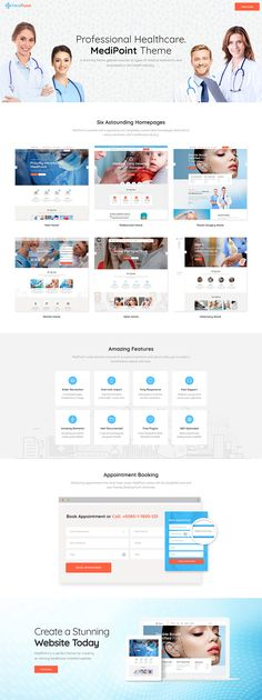 MediPoint is packed with appealing and completely customizable layouts dedicated to various branches within healthcare industry. Dentist Website, Hospital Website, Healthcare Website, Health And Fitness Tips, Health Diet, Health Care, Dentist Clinic, Emergency Dentist, Dentistry