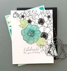 Celebrate Card by Danielle Flanders for Papertrey Ink (January 2016)