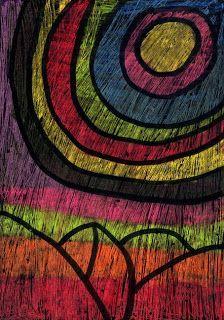 Art Projects for Kids: Scratch Art Landscape
