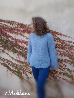 Création Madilaine https:// madilaine. Pull, Creations, Turtle Neck, Sweaters, Fashion, Round Collar, Wool, Blue, Tricot