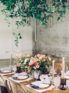 borrowed BLU//tabletop rentals on @stylemepretty Photography: Luna De Mare More on SMP: http://www.stylemepretty.com/california-weddings/2016/04/01/copper-color-story-modern-wedding-inspiration/
