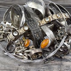 Mixture of Sterling Silver like Rings, Necklaces & Bangles