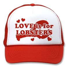 Love Is For Lobsters Mesh Hats  #JoesCrabShack