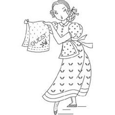Pattern Detail | Housewife with Guest Towel | Needlecrafter