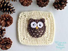 Woodland Owl Granny Square - Woodland Afghan Series