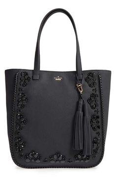 kate spade new york 'anderson way - dorna' beaded leather tote