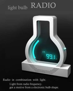 The Light Bulb Radio is Designed to Wake You Up and Light Up the Night #fashion trendhunter.com