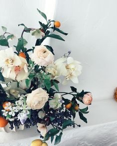 Wedding Flower Arrangements orange, peach, ivory fine art wedding floral bouquet for a summer wedding -