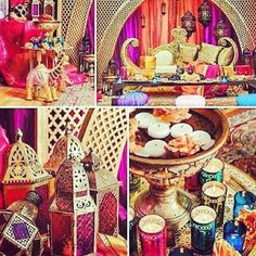 Moroccan ♥ Indian ♥ fusion ♥ wedding ♥ decor ♥ reception ♥ lamp ♥ flowers ♥ centrepiece ♥ candles ♥ lanterns ♥