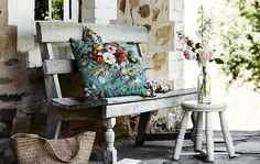 26 Best Ideas For House Exterior Australian Country Style Yard Benches, Country Style Magazine, Woodside Homes, Outdoor Rooms, Outdoor Decor, Outdoor Areas, Decorating Blogs, Cottage Decorating, Cottage Ideas