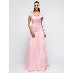 Free Measurements ! A-line/Princess Halter Floor-length Chiffon Evening/Prom Dress – USD $ 89.69