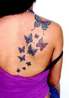 60 awesome free butterfly tattoo designs + the meaning of butterfly tattoos. designs include: feminine, tribal and lower back butterfly tattoos. Butterfly Tattoo Cover Up, Tribal Butterfly Tattoo, Butterfly Tattoo Meaning, Butterfly Tattoo On Shoulder, Butterfly Tattoos For Women, Butterfly Tattoo Designs, Shoulder Tattoos, Tattoo Designs For Women, Butterfly Design