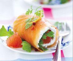 roulés au saumon
