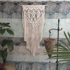 Large Macrame Wall Hanging Wall Tapestry Unique by MacrameElegance