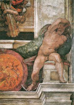 ❤ - MICHELANGELO BUONARROTI - (1475 - 1564) - Sistine Chapel (detail).