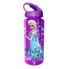 Silver Buffalo Disney Frozen Heart BPAFree Tritan Water Bottle 20 oz Purple ** For more information, visit image link. Disney Cups, Disney Frozen, Disney Water Bottle, Fancy Water Bottles, Callie And Marie, Running Accessories, Frozen Heart, School Items, Camping And Hiking