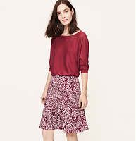 """Just got this. Playful and forgiving. Vine Print Knit Circle Skirt - Done in the softest jersey knit, this skirt is made for a summer twirl. Elasticized waistband. Lined. 20 1/2"""" long. Loft.com"""