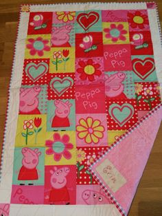 Peppa Pig for my granddaughter - all fabric came from Fabric.com ... : peppa pig quilting fabric - Adamdwight.com