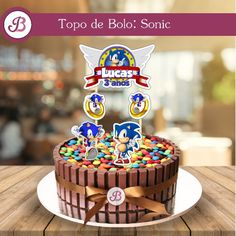 Bolo do sonic redondo Hedgehog Birthday, Sonic Birthday, Birthday Cake, Drink Menu, Food And Drink, Bolo Sonic, Cakes For Boys, Bellini, Science Projects