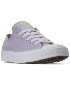 Converse Women's Chuck Taylor All Star Renew Low Top Casual Sneakers From Finish Line In Moonstone Violet/natural/ Converse Style, Converse Shoes, Plastic Waste, Converse Chuck Taylor All Star, Finish Line, Casual Sneakers, World Of Fashion, Chuck Taylors, It Is Finished