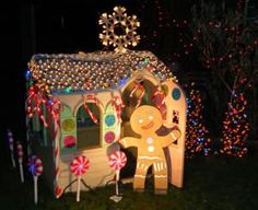 kids playhouse turned into lifesized gingerbread house!!!