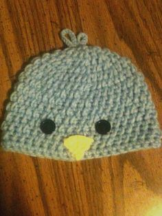 075e5bf8640 Baby blue chick hat is ready for spring. 0-3 months and made with