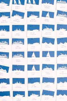 boat place cards for a #nautical wedding in Missouri