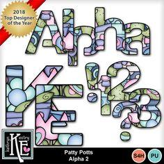 Digital Scrapbooking Kits   Patty Potts Extra Alpha-(Kathryn)   Girls, Nature   MyMemories