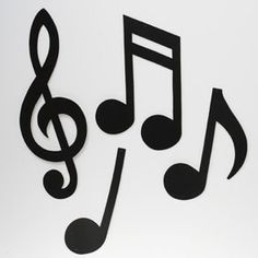 Musical Notes Silhouette by Century Novelty,