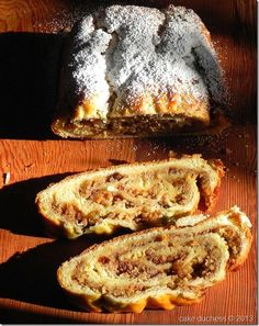kalács-rolled-walnut-bread: rolled yeast dough filled with walnut or poppy seeds. It is a traditional holiday recipe that is enjoyed on most Hungarian homes during Christmas even Easter.