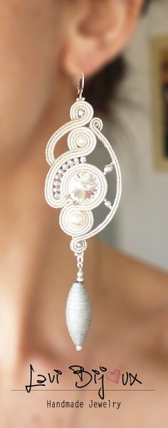 kreative šperky soutache Is Laminate Flooring Your Choice? Diamond Hoop Earrings, Pearl Drop Earrings, Silver Hoop Earrings, Beaded Earrings, Earrings Handmade, Handmade Jewelry, Soutache Jewelry, Pearl Jewelry, Boho Jewelry