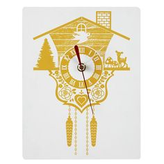 I wish I'd gotten this clock for my son's nursery; so reminiscent of the clocks we grew up with....