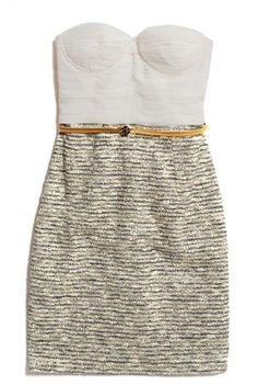 Alice + Olivia Elena Assymetrical Bustier Dress