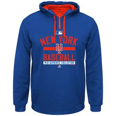 New York Mets 2015 On-Field Team Property Colorblock Hooded Fleece by Majestic Athletic  - MLB.com Shop