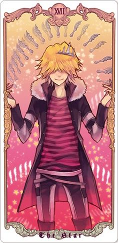 "TAROT CARDS VER. MAFIA ( KATEKYO HITMAN REBORN ) annediryzza: "" 0 - The Fool ( Skull - Cloud Arcobaleno ) 1 - The Magician ( Hayato Gokudera - Vongola's Storm Guardian ) 2 - The High Priestess (..."