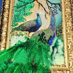 Embellished peacock art - Rejuvenate your walls in an instant with this gorgeous Slay my art Embellished Peacock Art. A striking peacock dominates Peacock Wallpaper, Peacock Wall Art, Peacock Painting, Peacock Pictures, Art Pictures, Peacock Crafts, Glass Painting Designs, Tanjore Painting, Beautiful Nature Wallpaper