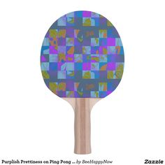 Purplish Prettiness on Ping Pong Paddle Ping Pong Table Tennis, Ping Pong Paddles