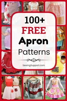 free apron patterns, tutorials, and diy sewing projects. Sew full and half aprons, waist aprons, simple . Apron Pattern Free, Sewing Patterns Free, Free Sewing, Pattern Sewing, Half Apron Patterns, Diy Tumblr, Diy Sewing Projects, Sewing Hacks, Sewing Tutorials