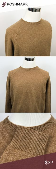 J Crew Mens Large 100% Lambswool Sweater Crewneck J Crew Mens Large 100% Lambswool Sweater Crewneck Dark Beige Knit Casual  Measurements (inches): Pit to Pit (across the chest): 23 Sleeve (center collar to cuff): 34.5 Length (top of collar to hem): 27.5  Condition:  This item is in good pre-owned condition! Free from rips & stains.  All items come from a smoke/ pet free environment. J. Crew Sweaters Crewneck