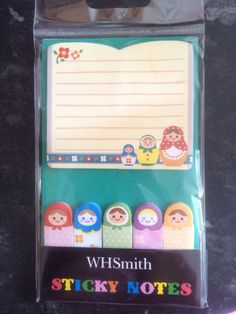 Sticky notes from WH Smith. A snip at 74p!
