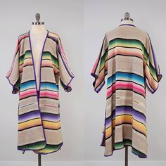 RARE vintage SALTILLO blanket kimono jacket by digvintageclothing