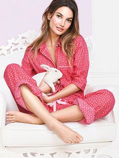 The Dreamer Flannel Pajama COLOR: RED GRAPHIC DOT OR BLACK/WHITE LEOPARD SIZE: MEDIUM LONG