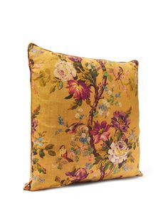 Liberty Art Fabrics Lady Kristina in Golden Globe Linen Cushion | Home | Liberty.co.uk