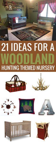 #woodland #forest #nursery Woodland Hunting Themed Nursery, lumberjack, buffalo check plaid #babyboynursery