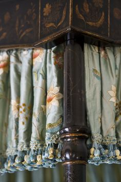 Bed Valance - Chinoiserie, Embroidered Silk & Tassel Trim ♥♥♥  www.lindafloyd.com