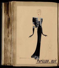 Robe Papillon de Nuit, Paris 1933, copyright Patrimoine Lanvin #JeanneLanvin #Lanvin