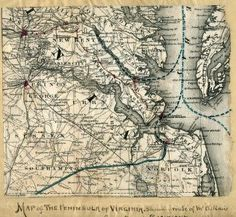 Map of the Peninsula of Virginia : showing route of McClellan's Army toward Richmond [illegible]. | Library of Congress