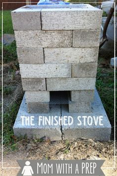Building a Brick Rocket Stove for your backyard gives you an alternative cooking source just in case. This is a quick and easy project to do this weekend! Rocket Stove Design, Diy Rocket Stove, Build A Rocket, Rocket Stoves, Brick Crafts, Brick Projects, Outdoor Projects, Outdoor Cooking Stove, Outdoor Stove
